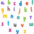The cartoon alphabet or numbers - for the children — Stock Photo