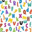 The cartoon alphabet - for the children - tilling — Stock Photo