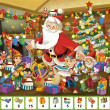 Stock Photo: Christmas - board game - SantClaus