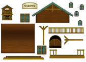The wild west style elements - illustration for the children — Stock Photo