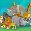 Stock Photo: Cartoon safari