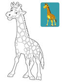 Cartoon giraffe — Stock Photo