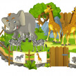 Stock Photo: Safari cartoon zoo