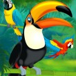 Stock Photo: Cartoon toucan