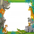 Cartoon safari- Frame - border — Stock Photo