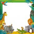 Stock Photo: Cartoon safari- Frame - border
