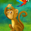 Cartoon monkey — Stock Photo