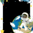 Astronaut boy in space- frame — Stock Photo