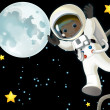 Astronaut boy in space — Stock Photo #28473345