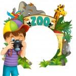 Cartoon zoo, amusement park, illustration for the children — Stock Photo #28569527