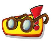 Gläser mit ausrufezeichen-illustration — Stockfoto