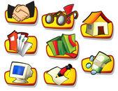 Set di icone di affari — Foto Stock