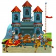The cartoon medieval illustration for the children — Stock Photo #28698677