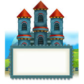 The cartoon medieval illustration of castle - for the children- Frame — Stock Photo