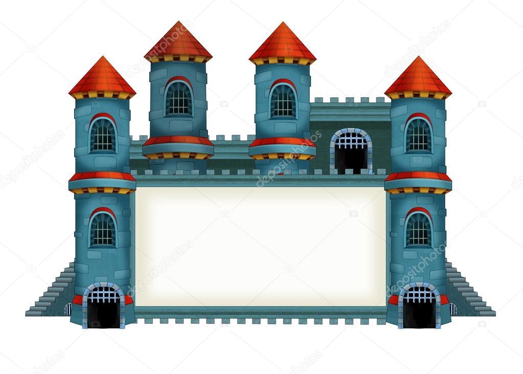 La ilustraci n de dibujos animados medieval del castillo - Castillos para ninos de infantil ...