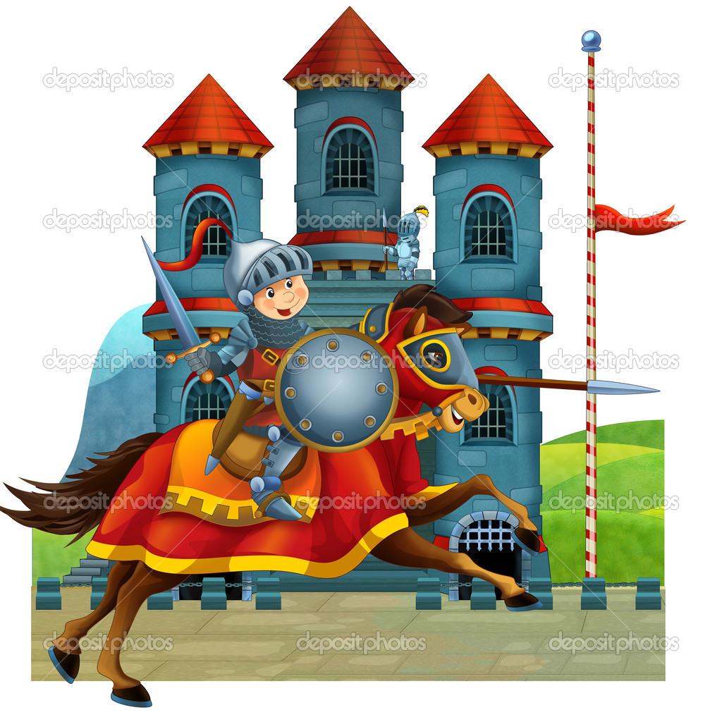 La ilustraci n medieval de dibujos animados para los ni os - Castillos para ninos de infantil ...