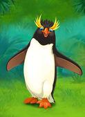 Cartoon tropical. penguin — Stock Photo