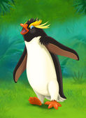 Cartoon tropical. penguin — Stock Photo