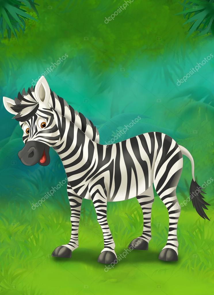 卡通热带或野生动物园-儿童插画