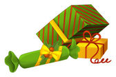 The christmas gifts illustration — Stock Photo