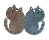 The cartoon cats — Stock Photo