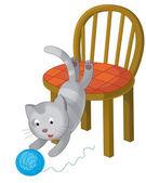 The cartoon cat — Foto de Stock