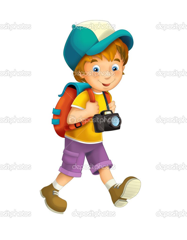 Dibujos animados de ni o aislado foto de stock - Camaras de fotos infantiles ...