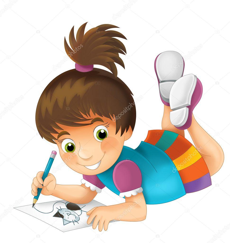Aislado infantil de dibujos animados ilustraci n para - Dibujos infantiles de bebes ...