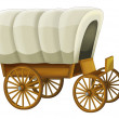 Wooden wagon — Stockfoto