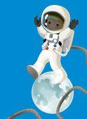 Cartoon cosmonaut — Stock Photo