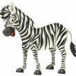 Cartoon zebra - illustration for the children — Stock Photo