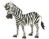 Cartoon zebra - illustration for the children — Foto de Stock