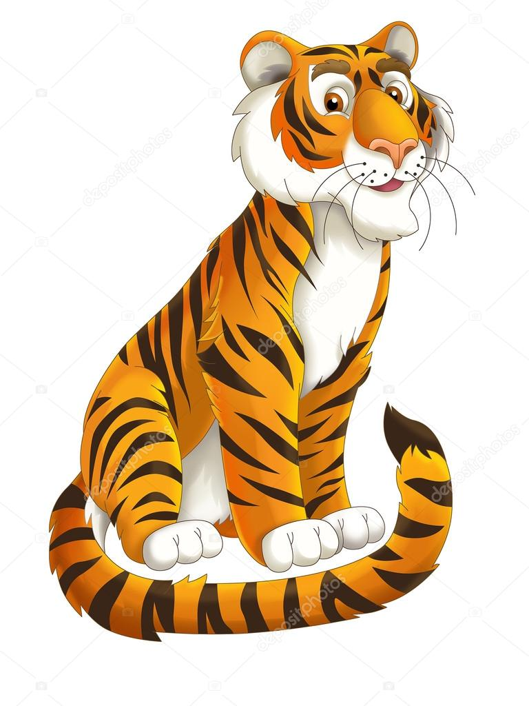 Cartoon tiger - illustration for the children — Stock ...