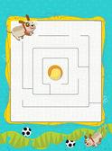 迷宫与可爱的小狗 — 图库照片