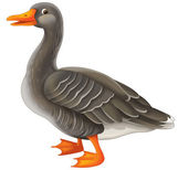 Cartoon goose — Stock Photo