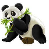 Cartoon panda — Stock Photo