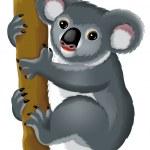 Cartoon koala — Stock Photo