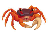 Cartoon crab — Stock Photo