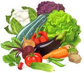 Cartoon groenten — Stockfoto