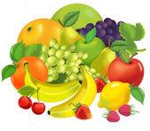 Cartoon fruits — Stock Photo