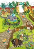 Cartoon dierentuin — Stockfoto