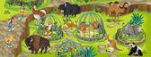 Cartoon zoo — Stock Photo
