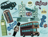 National elements of London — Stock Photo