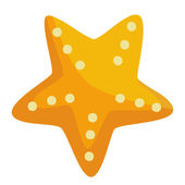 Gold starfish — Stock Photo