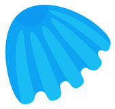 Blue seashell — Stock Photo