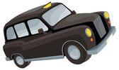 Cartoon element - black cab — Stock Photo