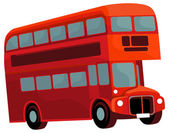 Cartoon element - double decker bus — Stock Photo