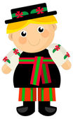Cartoon boy - traditional outfit — Foto Stock