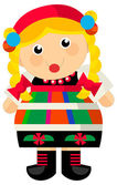 Cartoon girl - traditional outfit — Foto Stock