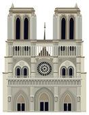 Cartoon architecture - Notre Dame — Stock Photo